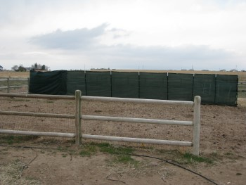 Wind Fence to Protect Pumpkin Patch